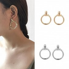 Buy women gold/silver plated dangle earrings