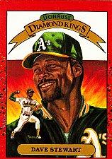 Buy Dave Stewart #6 - Athletics 1990 Donruss Baseball Trading Card
