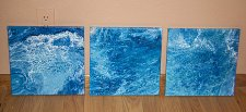 Buy Original Modern Contemporary Abstract Painting Trio, Set of Three