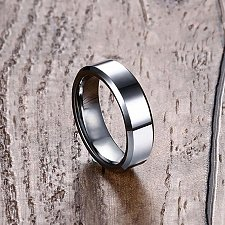 Buy MEN SILVER Stainless steel ring
