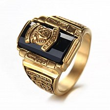Buy MEN gold plated Stainless steel ring
