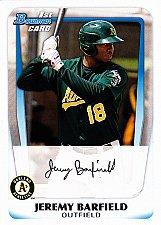 Buy Jeremy Barfield #BP3 - Athletics 2011 Bowman Auto Baseball Trading Card