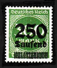 Buy German Hinged Scott #257 Catalog Value $.25