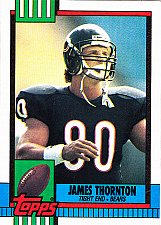 Buy James Thornton #374 - Bears 1990 Topps Football Trading Card