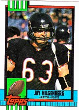 Buy Jay Hilgenberg #378 - Bears 1990 Topps Football Trading Card