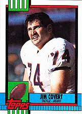 Buy Jim Covert #365 - Bears 1990 Topps Football Trading Card