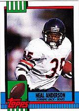 Buy Neal Anderson #367 - Bears 1990 Topps Football Trading Card