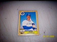 Buy 1987 Topps Traded Baseball ROOKIE JUAN CASTILLO BREWERS #T20 FREE SHIPPING