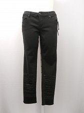 Buy Seven7 Luxe Jeans Size 14 Black Womens Embellished Skinny Legs Mid-Rise 36X30