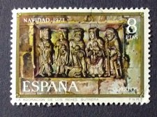 Buy Spain 1973 1v used Stamp Mi 2058 Christmas Adoration of the Kings
