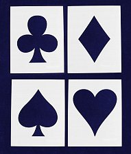 Buy Playing Card Suits-4 Piece Set- 14 Mil Mylar Crafts/Sewing/Painting
