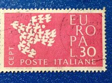 Buy Europa italy 1v Used Stamp 1961 Used dove made up of 19 individual doves