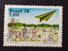 Buy Brazil 1978 1v MNH stamp Mi1665 Homeland week Aircraft | Aviation | Toys