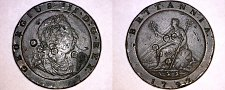 Buy 1797 Great Britain 1 Cartwheel Penny World Coin - England - George III - Punched