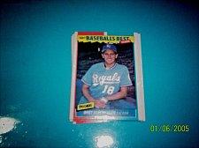 Buy 1987 Fleer Baseballs Best Sluggers Vs Pitchers BRET SABERHAGEN #36