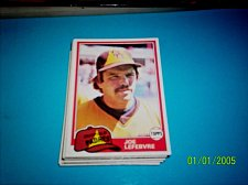 Buy 1981 Topps Traded Joe Lefebvre #790 mint FREE SHIPPING