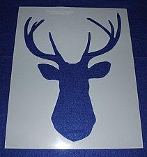 "Buy Buck-Deer Head Stencil F-Mylar 14 Mil 17.5"" H X 14""W - Painting /Crafts/Template"