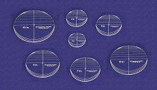 "Buy 7 Piece Circle Set - NO seam 4""- 10"" ~ 1/4"" Thick - Long Arm -Multi Use"