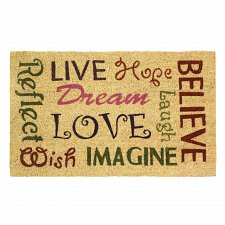 "Buy *17673U - Words Of Wisdom Welcome Entry Way Rubber & Coir 30"" Door Mat Outdoor Rug"
