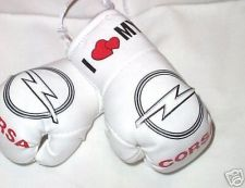 Buy Opel Corsa Mini boxing gloves white