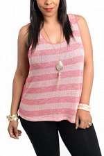 Buy PLUS SIZE 1XL 2XL 3XL Womens Sheer Tank Top COLOR SWATCH Coral Necklace Sleevele