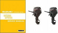 Buy 2014-2016 Suzuki DF25A DF30A EFI Outboard Motors Service Manual on a CD