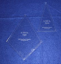 """Buy Quilting Template -2 Piece """"Fan"""" Shape Set - 1/8"""" Clear Acrylic -Kite, Sew"""