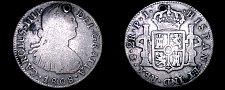 Buy 1808-PTS PJ Bolivian 2 Reales World Silver Coin - Charles IIII - Holed - Bolivia