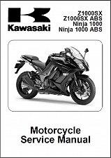 Buy 2011-2012-2013 Kawasaki Ninja 1000 - Z1000SX ABS Service Manual on a CD