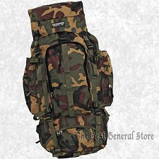 Buy Large Green Camo Water Repellent Mountaineers Backpack Hunting Camping Hiking
