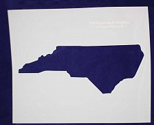 """Buy State of North Carolina Stencil Mylar 14 Mil 17W x 14""""H - Paint /Crafts/Template"""