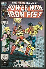 Buy POWER MAN and IRON FIST #125 LAST ISSUE Death Iron Fist MARVEL Fine+/VF Bright