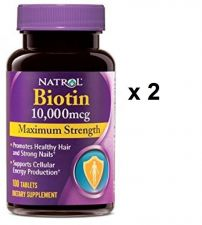 Buy Natrol Biotin Maximum Strength Tablets, 10,000mcg , 100 Count, (pack Of 2)