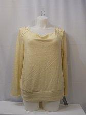 Buy Womens Sweater Drape Neck NY COLLECTION Black Ivory Beaded PLUS SIZE 1X 2X 3X