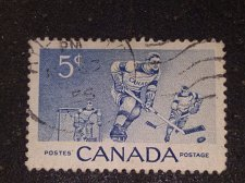 Buy Canada, 1956 postage stamp, Ice Hockey Players, Thematic Hockey