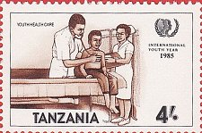 Buy Tanzania 1v mnh Stamp 1986 MNH Youth Health Care