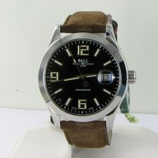 Buy Ball Watch NM2026C-L4CAJ-BK Engineer II Pioneer COSC Black Brown Suede NWT $2499