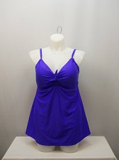 Buy PLUS SIZE 20 Women 1PC Tie Front Swimdress SHORE CLUB Solid Voilet Sweetheart Ne