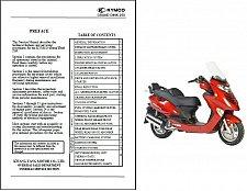 Buy Kymco Grandvista 250 / Grand Dink 250 Scooter Service Manual Manual on a CD