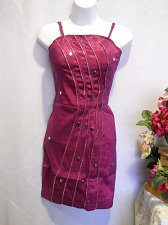Buy Women Dress Fuchsia SIZE M Embellished Spaghetti Strap Sexy Clubwear Runs Small