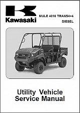 Buy 2009-1013 Kawasaki Mule 4010 Trans 4X4 Diesel ( KAF950 ) UTV Service Manual CD