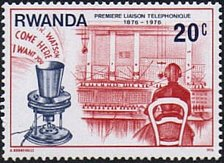 Buy Rwanda 1v mnh Stamp 1976 Michel 807 Centenary of the first telephone link