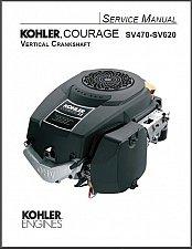 Buy Kohler Courage SV470 - SV620 Engine Models Service Repair Manual on a CD