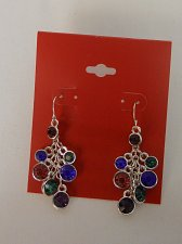 Buy Women Fashion Drop Dangle Earrings Multi Color Rhinestones TABLE & TOWER Hook