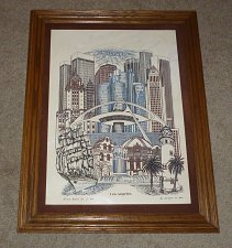 Buy Los Angeles California Eugene Andreyev Alabaster Marble Etching Picture 1982