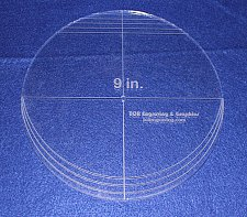 "Buy 9"" Multi Circle Template - NO seam ~ 1/4"" Thick - Long Arm -Multi Use"
