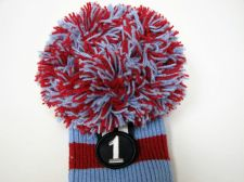 Buy Rocket Tour Knit Pompom Driver 1 Wood Headcover Light Blue/Red New