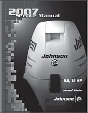 Buy 2007 and up Johnson 9.9 / 15 HP 4-Stroke Outboard Motors Service Manual on a CD