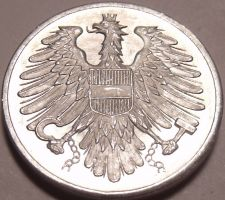 Buy Austria 1965 2 Groschen Proof~Imperial Eagle~Free Shipping