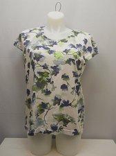 Buy SIZE XL Women Knit Top ADRIAN DELAFIELD MultiColor Floral Cap Sleeves Scoop Neck
